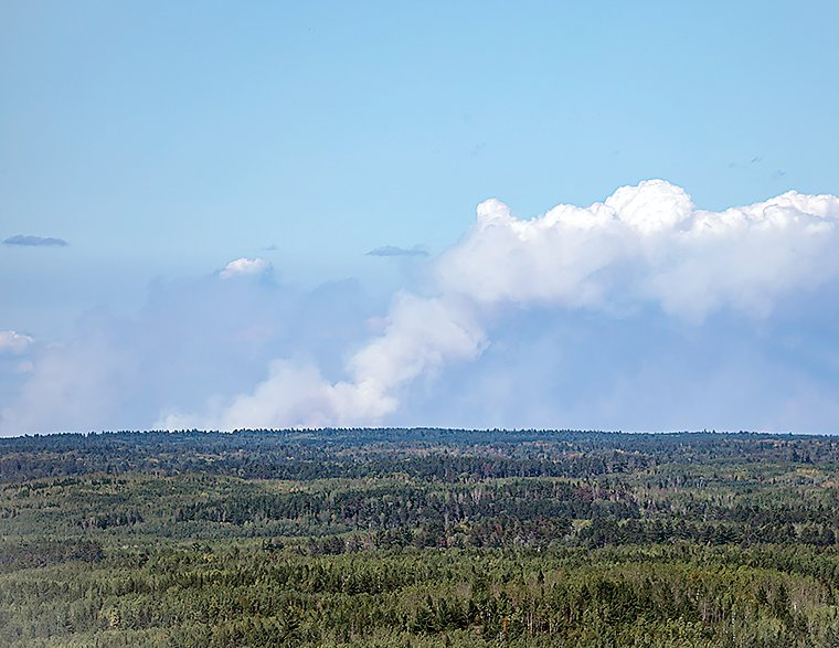 Smoke from Quetico fires was clearly visible last week from Jasper Peak, near Soudan.