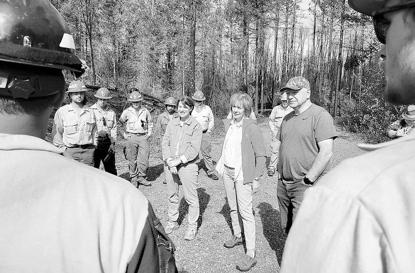 Sen. Amy Klobuchar, Sen. Tina Smith, and Gov. Tim Walz toured the fire scene on Sept. 6.
