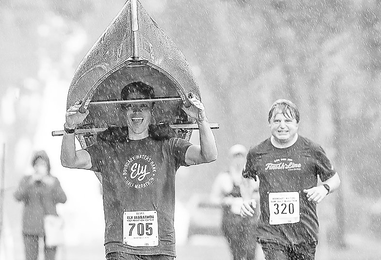 Rain didn't dampen spirits for the Ely marathon in 2019.