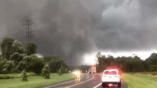 A massive tornado destroyed a neighborhood in Mullica, NJ.