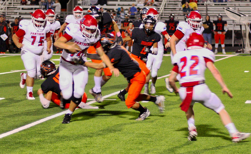 Alba-Golden offensive yards were hard to come by against an aggressive Grand Saline defense last Friday.