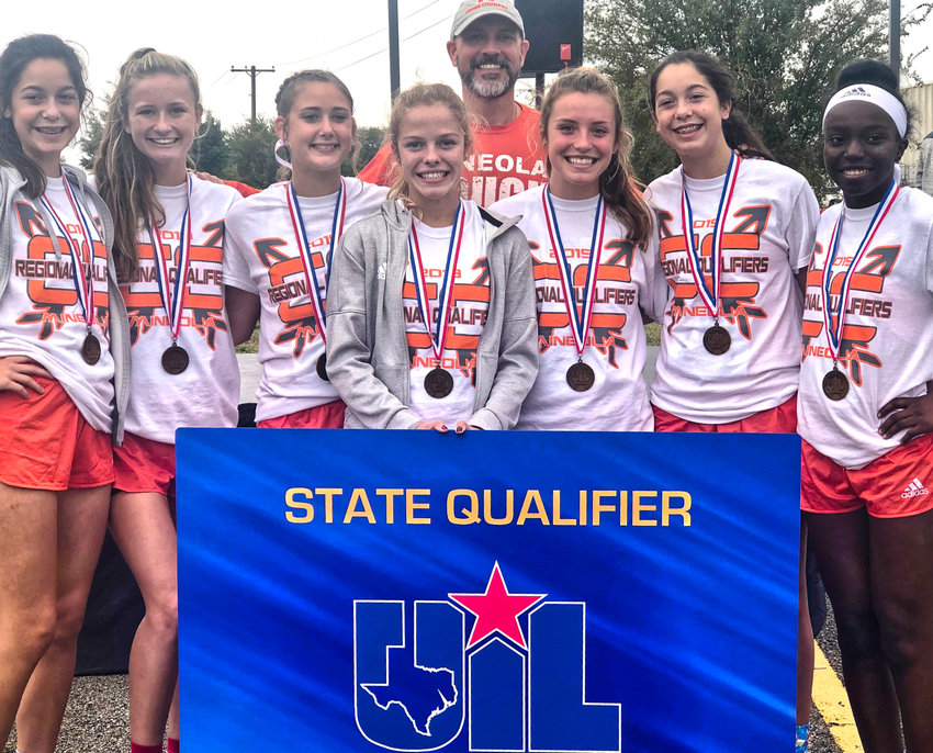 Mineola girls cross country team qualified for the state meet.