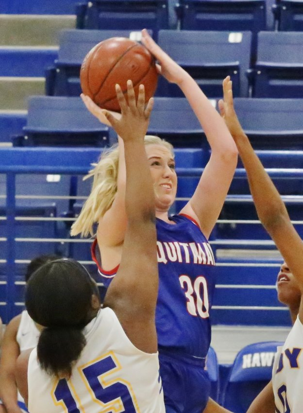 Lady Bulldog Maddy Whitehurst continued her excellent scoring season at the Hawkins Tournament.
