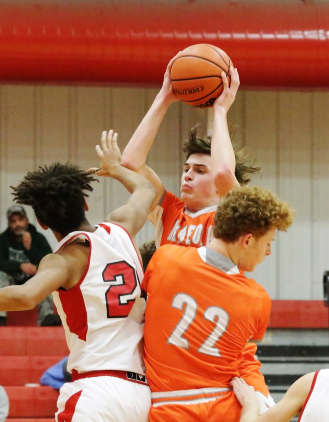 Senior Wiley Franks had anotherstrong game in the win against Lone Oak.