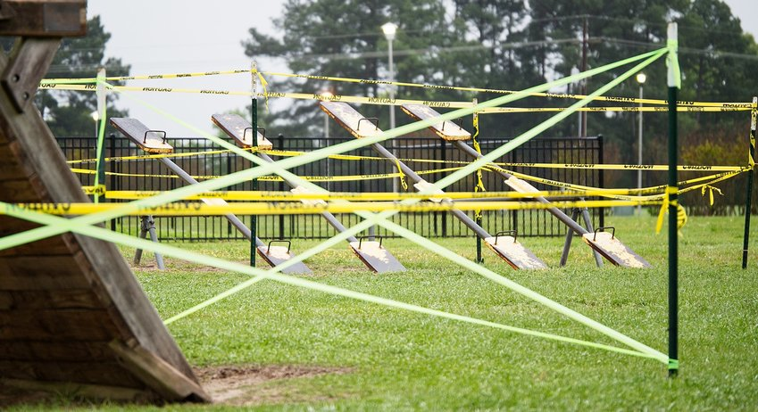The city of Mineola jumped in late last week to close off all playground equipment in city parks, though the parks remain open for recreation as long as social distancing is followed.