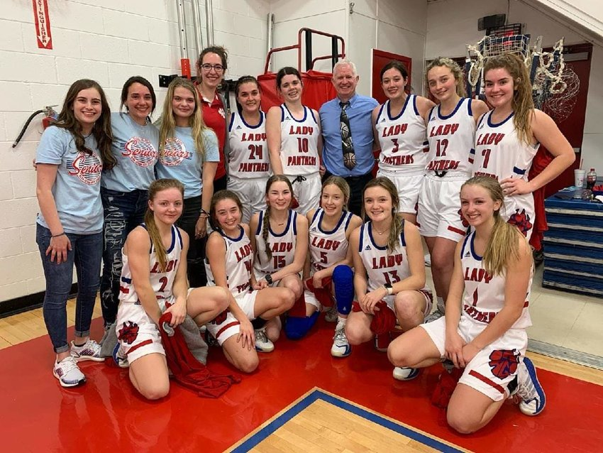 The Alba Golden Lady Panthers are district basketball champs and will take on the Rivercrest Lady Rebels Thursday Feb. 11 at 7:30 p.m. in the bidsitrict playoff at the Sulphur Springs High School gym.