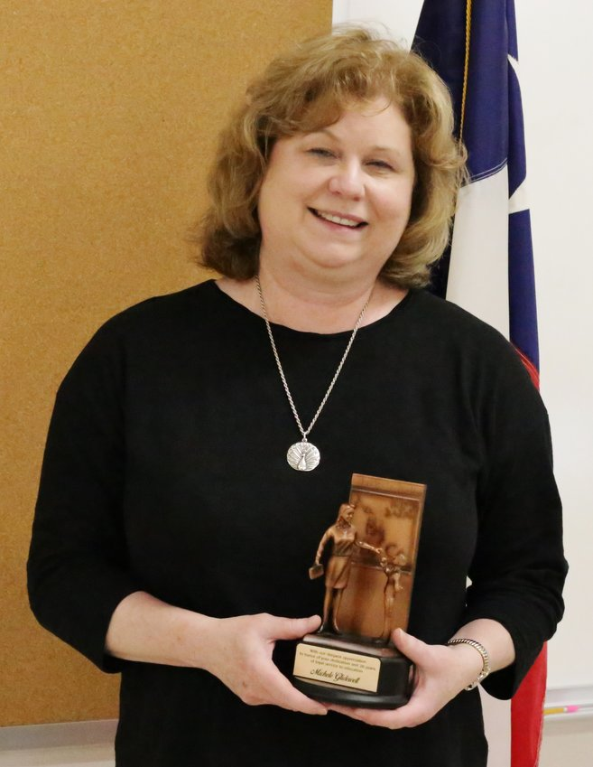 The Alba-Golden School Board opened their Monday evening meeting by recognizing the contributions of retiring Curriculum Director Michele Glidewell.