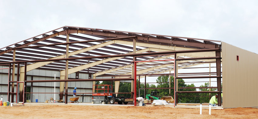 The Alba-Golden Ag-science Project Center is taking shape and is expected to be complete in October.