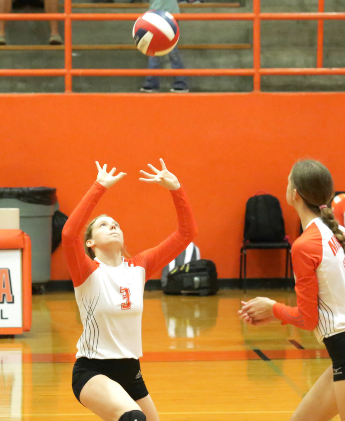 Mylee Fischer had an excellent match in the Lady Jackets front line. (Monitor photo by John Arbter)