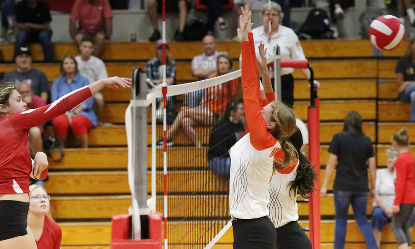 This snapshot of a Harmony kill on its way pretty much summarized last Tuesday's match with the Lady Jackets.